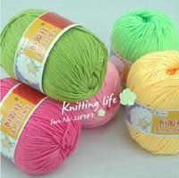 Wholesale,10 Balls/Lot  Soft  Silk Fiber Cashmere  Baby Yarn For  Knitting  Free Shipping