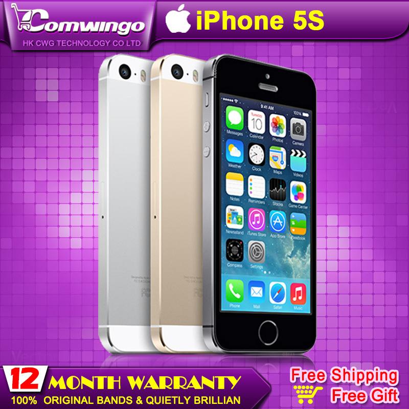 Original Factory Unlocked apple iphone 5s phone 16GB / 32GB ROM IOS White Black GPS GPRS A7 IPS LTE Free Gift 1 year warranty(China (Mainland))