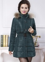 Winter coat women 2014 down cotton-padded jacket long wadded jacket thickening plus size 4XL outerwear coats mother clothing
