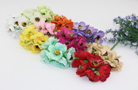 High quality 4cm head Multicolor artificial camellia flower Bouquet Scrapbooking wedding decoration Bridal Bouquet(72pcs/lot)