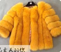 Promotion 2014 Imitation Mink Fur Coat Patchwork Faux Outerwear Fox Fur Short Design 10 Color 5 Size Cheap For Women For Sale