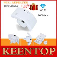 100% repetidor sem fio wifi original 802.11n/b/g roteador de rede gama expansor 300m antena signal booster roteador wifi ap()