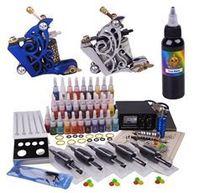 Hot sale Tattoo Kit Power Supply 2 Machines Guns Grips Needles 40 Ink
