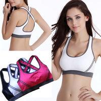 Women Feminine Sexy Bras Halter Padded Crop Top Stretch Vest Sports Bra Gym Shapewear Fitness Run Underwear Free Shipping 5036