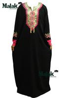 Free shipping kaftan jilbabs and Islamic embroidery clothing for woman new fashion abaya muslim abaya for