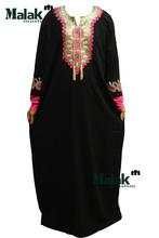 Free shipping kaftan jilbabs and Islamic embroidery clothing for woman new fashion abaya muslim abaya for(China (Mainland))