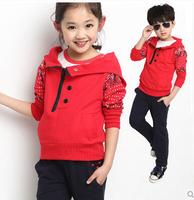 Autumn children's clothing female child spring 2014 boys clothing sweatshirt child autumn clothes sports set suits