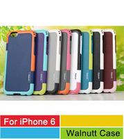 "10pcs/lot 8 Colors Zenus Walnutt  Colorful Mesh Design Matt Plastic Rubber Bumper Cover Case For Apple iPhone 6 Air 4.7"" Inch"