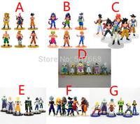6pcs/set 9.5-13CM Seven dragon ball. Z dragon ball GT dragon ball AF Super Saiyan Sun Wukong Birgitta Action Figure toys