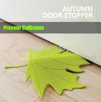 Essential OrangeRed Novelty Autumn Maple Leaf Door Stopper / Maple Leaf Door Stops 5pcs/lot Door Holder Resistance