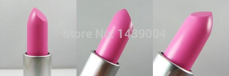 This, 6pcs high quality brand cosmetics lipstick lip gloss makeup lasting color Barbie pink lipstick free shipping(China (Mainland))