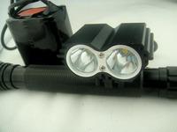 Freeshipping Hot 5000Lumen 2x CREE XM-L U2 LED Cycling Front Bicycle bike Light Lamp Headlight Headlamp+12000mAh Battery Pack
