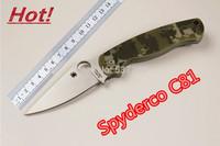 2014 New Arrival! S30v blade G10 Handle Spyderco C81 Tactical knife Pocket Survival Folding knife Camping knife EDC  tools 0171