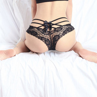 Black Red Pink Sexy Lace Butt Panties Underwear Lingerie G String T-Back Thongs G-String Briefs For Girls Lady Women