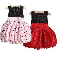 Toddler Kids Girl Flower Dot Puffy Dress Princess Tutu Summer Dress Bubble  Dress  Free Drop &Shipping