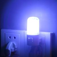1 pcs 6 LED Wall Mounting Bedroom Night Lamp Light Plug Lighting AC 3W