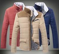 Hot ! 2014 New Brand Warm Faux Fur wool Blend Hem Stitching Plush  Winter Coat For men,Tops Outerwear men's Clothing