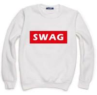 SWAG Letters Print Sweatshirt For Women Men Casual Hoody Pullover Spring Autumn Moleton Feminino S-XXL ZY123-43