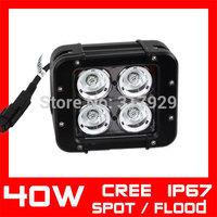 40W CREE LED Work Light Bar Spot / Flood IP67 BOAT Tractor ATV 4X4 Offroad SUV Truck LED Drving Work Light Bar External Light