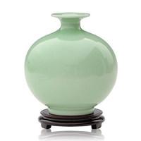 Basons ceramics shadow blue glaze pomegranate antique vase crafts home decoration