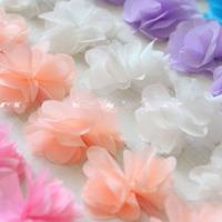 Gorgeous 6cm Wide 3D Chiffon Floral Lace Trim For Hat Bag Clothes Dress DIY Decor 8 Colors - Free Shipping