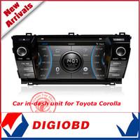 "NEW CASKA 7"" CAR DVD player with GPS navigation bluetooth CSR A9 Windows CE 6.0 for Toyota Corolla 2014 version Car in-dash unit"