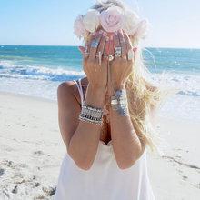 Bohemian Antalya Bracelet Silver Gypsy Statement Boho Coachella Festival Turkish Jewelry Sinaya Tribal Ethnic  Jewelry