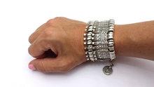 Bohemian Antalya Coin Bracelet Silver Gypsy Statement Boho Coachella Festival Turkish Jewelry Sinaya Tribal Ethnic Jewelry
