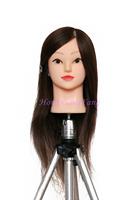 "Professional Training Head Hair For Dye Curl Hairdress 18"" Natural Black 90% Human Hair Training Mannequin Head With Human Hair"