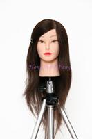 "Professional Training Head Hair For Dye Curl Hairdress 18"" Natural Black 70% Human Hair Training Mannequin Head With Human Hair"