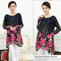 XXL 3XL 4XL Plus Size Novelty Winter Dress Women's Casual Printing Sweater Dress Wool Cotton Dresses New Fashion 2014