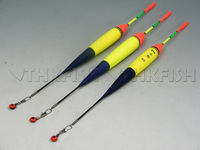 3Pcs 19g #5.0 float + 10Pcs Glow stick Vertical Satlwater Freshwater Fishing Floats Luminous Lighting Foam Floats