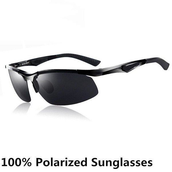 2014 Men Sunglasses Polarized Driving Glasses Polaroid UV400 Alloy Sun Glasses Cycling Goggles With Case Black 9049(China (Mainland))