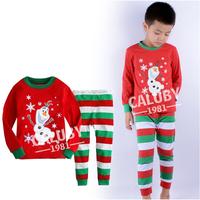 Drop shipping Wholesale 6 sets/lot 100%cotton boy's 3D long sleeve pajamas christmas Autumn Winter sleepwear X-468