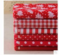 6 pieces/lot 40cmx45cm Cotton Fabric Fat Quarter Bundle Quilting Patchwork Tilda Fabric Sewing  Red Christmas cloth group