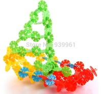 100pcs in 1 bag Sallei child plastic digital thickening snowflakes educational toys Free Shipping