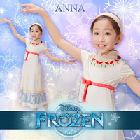 2014 frozen   Anna  Female children's clothing daily dress National wind send hair accessories   free shipping