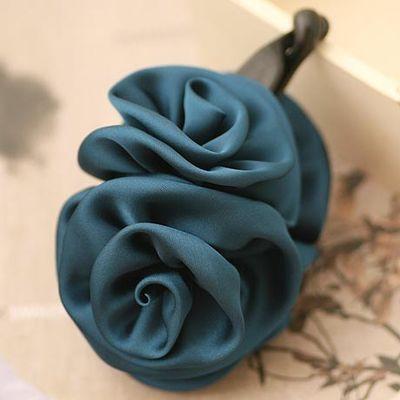 Silk Two Rose Flor da banana grampo de cabelo chiffon flor Barrettes para Mulheres Chegada Nova Rosa Flor Acessórios de cabelo(China (Mainland))