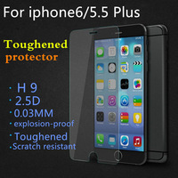 """0.03 mm toughened glass protective film For explosion-proof glass protector H9 iphone6 plus / 5.5 """"HD protection shell"""