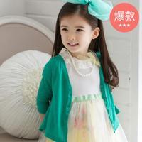 New 2014 Autumn Korean Children's Clothing Blouse Frivolous Air Conditioning Skirt