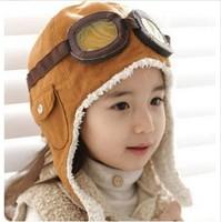 Winter baby earflap,Pilot cap, children hats boys, flight caps, Free Shipping, H61