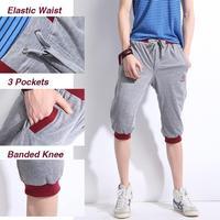 2XL-5XL Mens Boys Zipper Pockets Elastic Waist Cotton Sports Pants Joggers Tracksuit Dance Sport Sweat Running Trousers Black