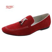 DYANMIC los hombres del cuero genuino Italian Shoes Mens planos ocasionales calza el tamaño de los holgazanes hombre Hombre Mocasines Envío Gratis 40-45(China (Mainland))