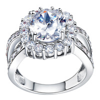 Best Quality Platinum Plated Luxury Austrian Crystals Rings,Fashion Rhinestone Rings,Wholesale Fashion Jewelry,GYJ453