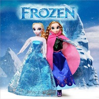 2Pcs/Lot Hot Sale Frozen Princess 29CM Frozen Doll Frozen Elsa and Frozen Anna Good Girl Kids Baby Gifts Toy Doll Joint Moveable