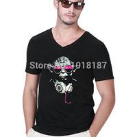 Cool Star Wars Shirt Men v-neck T Shirts Fashion Darth Vader Stormtroopers Yoda t shirt Design