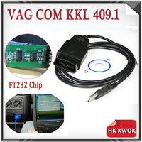 2014 VAG-COM 409.1 Fidi FT232 FT232RL Chip Vag Com 409.1 KKL OBD 2 USB VAG409.1 Cable Scanner Scan Tool Interface For Adi VW