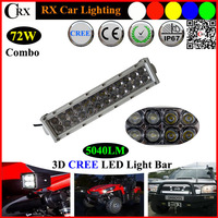 13.5inch 72W 5760LM  9-32V  LED ATV cree led bar light car for Motorcycle Tractor Boat Off Road 4WD 4x4 Truck SUV Spot Flood