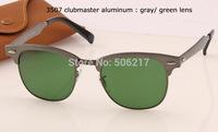 new brand name original case clubmaster sunglasses 3507 aluminum gunmetal frame top quality men women fashion sunglasses 51mm