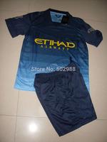 Manchester Jersey 2014/15 KUN AGUERO TOURE YAYA soccer shirt & shorts uniforms Man city KOMPANY SILVA soccer jersey kit 2015